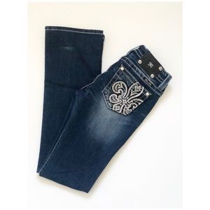 Miss Me Mid-Rise Bootcut Jeans Size 28 Blue